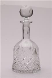 Sale 9049 - Lot 46 - A cut glass decanter (H30cm)