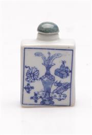Sale 9060 - Lot 56 - A Blue And White Porcelain Snuff Bottle H: 6.5cm