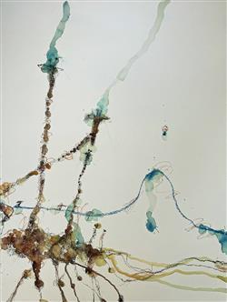 Sale 9091A - Lot 5014 - John Olsen (1928 - ) - Giraffes and Baboons II 97 x 72.5 cm