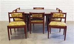 Sale 9134 - Lot 1010 - Chiswell nine piece dining setting incl. eight chairs and extension table (table - h:74 x d:120cm)