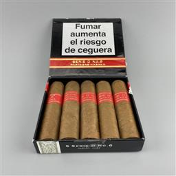 Sale 9165 - Lot 658 - Partagas Serie D No. 6 Cuban Cigars - pack of 5 cigars, removed from box dated August 2018