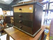 Sale 8469 - Lot 1038 - A pine four drawer cabinet makers tool cabinet