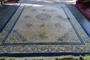 Sale 8515 - Lot 1089 - Oriental Rug in Blue & Cream Tones (365 x 280cm)