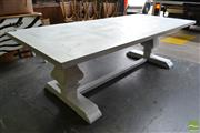 Sale 8523 - Lot 1031 - Recycled Elm Whitewash Dining Table (L 250cm)