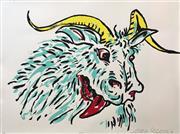 Sale 8527A - Lot 1 - Adam Cullen (1965 - 2012) - Goat 57 x 77cm