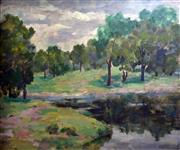 Sale 8563T - Lot 2025 - C Giles - Centennial Park oil on board, 50 x 60cm, signed lower right