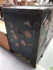 Sale 8580 - Lot 1084 - Large Inlayed Oriental 2 Door Cabinet