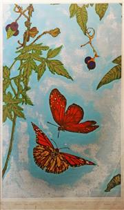 Sale 8657A - Lot 5044 - Leong Chan (1955 - ) - Monarch & Queen, 1977 49 x 29cm