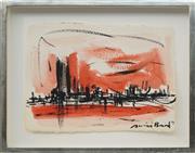 Sale 8771 - Lot 2024 - Susan Baird (1964 - ) - Afternoon Cityscape, 1993 31 x 42.5cm; 44.5 x 56cm (frame size)
