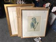 Sale 8824 - Lot 2096 - Group of (3) Botanical Decorative Prints