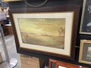 Sale 8995 - Lot 2069 - Artist Unknown The Shade of Evening pencil and watercolour, 64 x 90cm (frame)