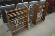 Sale 8310 - Lot 1624 - Pair of Shoe Racks