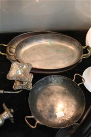 Sale 8327 - Lot 73 - Douro Graduated Copper Fish Roasting Pans & a Round Example
