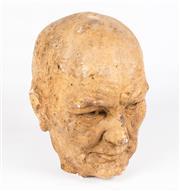 Sale 8342A - Lot 310 - Hugo Kocken (1921-2012), a composite bust of Winston Churchill, signed, H 36cm