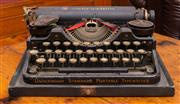 Sale 8625A - Lot 44 - An Underwood typewriter, width 30cm.