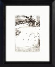 Sale 8697A - Lot 83 - Brett Whiteley, Sydney Harbour, digital re-print, frame size 42 x 34cm