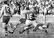Sale 8754A - Lot 26 - Australia vs Ireland Test Match, Irish Rugby Union Tour of Australia, Sydney Cricket Ground, 13 May 1967 - Irish five-eighth Michael...