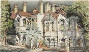 Sale 8847A - Lot 5095 - Cedric Emanuel (1906 - 1995) - Street Talk, Paddington, Sydney 29 x 48cm