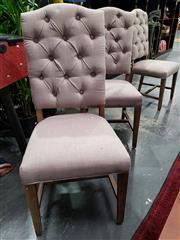 Sale 8889 - Lot 1045 - Set of SIx Latte Upholstered Dining Chairs