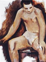 Sale 8958A - Lot 5048 - Bill Coleman (1922 - 1993) - Male Figure, 1950 38 x 29 cm (frame: 59 x 50 x 4 cm)