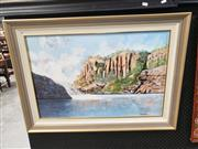 Sale 8978 - Lot 2078 - A. Allotta River and Cliffs oil, 67 x 93cm (frame) signed