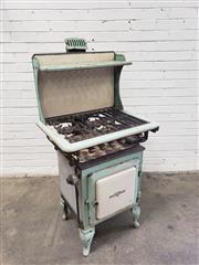 Sale 9080 - Lot 1006 - Early Kooka enamelled stove (h:143 x w:69 x d:51cm)