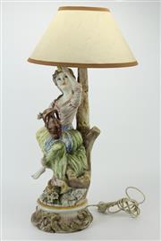 Sale 8405 - Lot 47 - Capodimonte Table Lamp