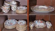 Sale 8440A - Lot 21 - A Spode New Stone pattern dinner service including four different size plates, coup bowls, octagonal serving platters and tureens