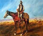 Sale 8567A - Lot 5018 - Hugh Sawrey (1919 - 1999) - Sid Kidman Cattle King 45 x 54cm