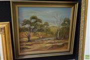 Sale 8592 - Lot 2038 - H Murray, Landscape, Oil on Board (40 x 45cm), Signed Lower Right