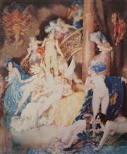 Sale 8627 - Lot 2024 - Norman Lindsay (1879 - 1969) - Eros Print 46 x 37cm (frame size: 78 x 75.5cm)