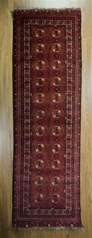 Sale 8643C - Lot 21 - Afghan Qunduzi 300cm x 80cm