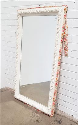 Sale 9112 - Lot 1017 - Ornately framed wall hung mirror (139 x 75cm)