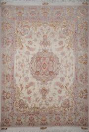 Sale 8390C - Lot 6 - Superfine Persian Silk Tabriz 189cm x 145cm