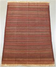 Sale 8438K - Lot 57 - Fine Maliki Tribal Kilim Rug | 190x140cm, Pure Wool, Amongst the finest of all Afghan sumak kilim weaves. Featuring an intricate and...