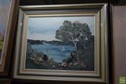 Sale 8569 - Lot 2026 - Neil Savage Overlooking the Cove, acrylic on canvas,  59 x 68cm (frame), signed lower right