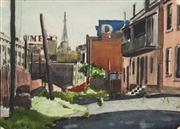 Sale 8657A - Lot 5019 - Harry McDonald (1914 - 1978) - The Rocks, Sydney, NSW, c1940 29.5 x 39.5cm (frame: 35 x 45cm)