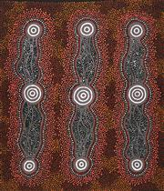Sale 8733A - Lot 5050 - Jillian Nungarrayi Turner - Water Dreaming 66.5 x 70.5cm (stretched and ready to hang)