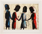 Sale 8764A - Lot 5023 - Charles Blackman (1918 - 2018) - Four Schoolgirls 28.5 x 43cm