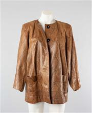 Sale 8740F - Lot 1 - A vintage Yves Saint Laurent (YSL) python skin jacket, size 42