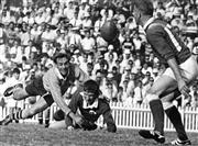 Sale 8754A - Lot 27 - Australia vs Ireland Test Match, Irish Rugby Union Tour of Australia, Sydney Cricket Ground, 13 May 1967 - Ireland's Jerry Walsh wai..