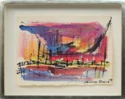 Sale 8771 - Lot 2017 - Susan Baird (1964 - ) - Summer Sky Cityscape, 1993 31 x 42.5cm; 44.5 x 56cm (frame size)