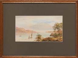 Sale 9125A - Lot 5092 - Lennard Lewis (1826 - 1913) - Lake Coniston, England, 1895 12.5 x 23 cm (frame: 29 x 39 x 2 cm)