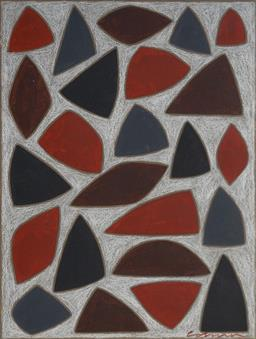 Sale 9141 - Lot 530 - John Coburn (1925 - 2006) Study For Buenavina pastel 45 x 34 cm (frame: 62 x 61 x 2 cm) signed lower right