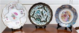 Sale 9140H - Lot 85 - Three cabinet platters including Weimar, Bavaria and a Japanese example, largest diameter 33cm