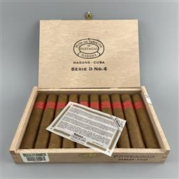 Sale 9165 - Lot 653 - Partagas Serie D No. 4 Cuban Cigars - box of 10 cigars, dated December 2019