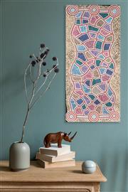Sale 8288A - Lot 84 - Felicity Robertson (XX) - Ngapa Dreaming 80 x 40cm