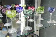Sale 8288 - Lot 1 - Val St Lambert Set Of Eight Wine Glasses