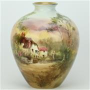 Sale 8342 - Lot 97 - Royal Doulton The Inn Willington, Sussex Vase by J Hughes