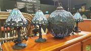 Sale 8390 - Lot 1554 - Set of 4 Lamps & Hanging Ceiling Light Shade